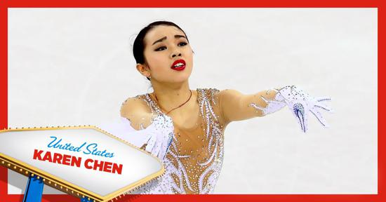Skate America ladies competitor - Karen Chen of Team USA