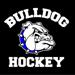 Bulldog hockey   on black small