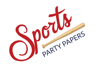 Sports party paperslogo element view