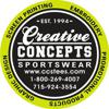 Sponsored by Creative Concepts