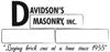 Sponsored by Davidson's Masonry, Inc.