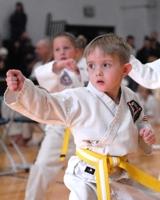 Toddler doing Taekwondo