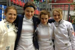 U S Women S Epee Team Places Fourth At Junior Worlds