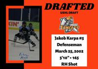 CONGRATULATIONS TO JAKOB KARPA ON BEING DRAFTED BY THE OMAHA LANCERS!