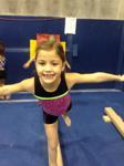 North Shore Gymnast on the balance beam