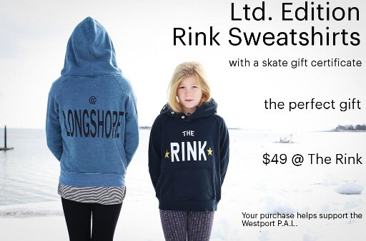 Ltd Edition Sweatshirts with skate gift certificate.  The perfect gift.  $49
