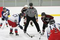 Sun Prairie Rage Women's hockey face-off