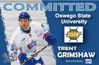 TRENT GRIMSHAW (2016-2017) COMMITS TO SUNY OSWEGO STATE