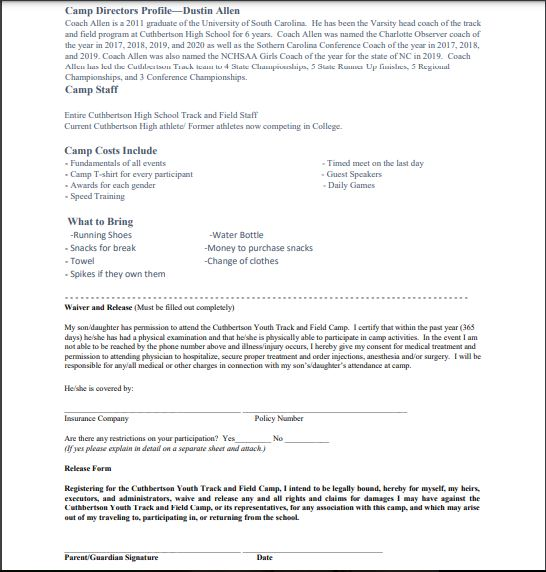 Track Registration - Page 2