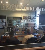 Players talk on the radio