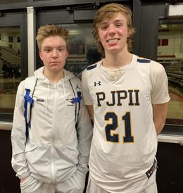 Kevin (left) and Justin Green (right) are both starters for the most successful team in Pope John Paul II history.
