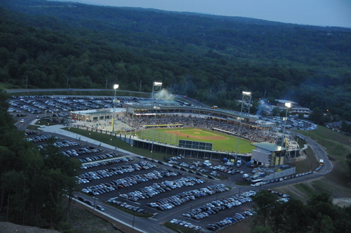 View of the Palisades Credit Union Park, home of the Rockland Boulders