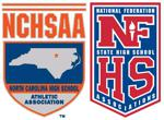 NCHSAA Banner and Logo and NFHS Banner and Logo