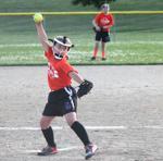 jgsa rec softball pitcher on pitching mound