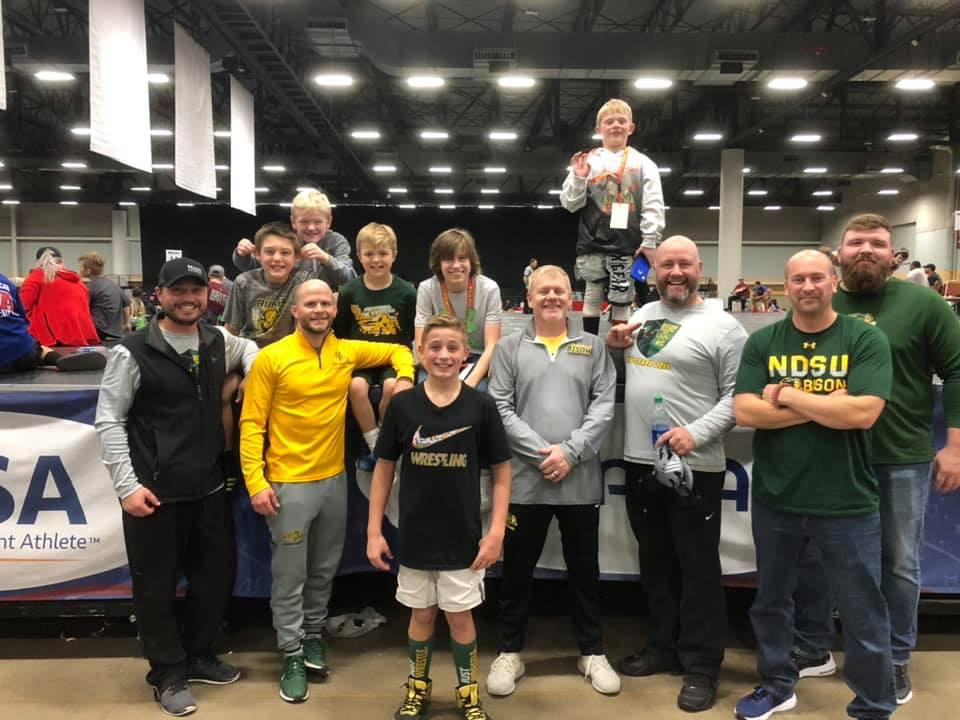 Bison Wrestling Club representatives
