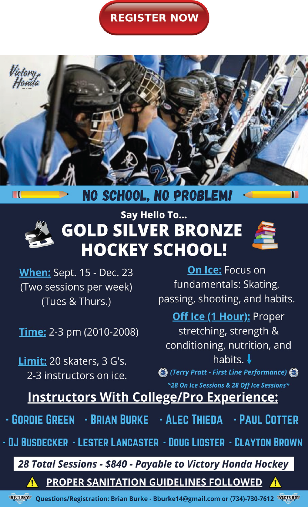 Hockey School Register 2010-2008